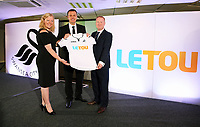 Pictured: Paul Fox, CEO of Letou with Disability Sport Wales and Shelter Cymru representatives. Monday 19 June 2017<br />