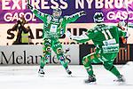 Stockholm 2014-03-05 Bandy SM-semifinal 3 Hammarby IF - V&auml;ster&aring;s SK :  <br /> Hammarbys Jonas Enander jublar efter att ha gett Hammarby ledningen med 3-2 i den andra halvleken<br /> (Foto: Kenta J&ouml;nsson) Nyckelord:  VSK Bajen HIF jubel gl&auml;dje lycka glad happy