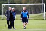 Ally McCoist at training with ex Rangers centre half Roger Hynd and St Mirren's Cammy Murray