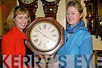 Bernice O'Sullivan Ardfert and Maureen Coffey Tralee examine this old grandfather clock at the Antiques Fair in The Brandon Hotel Tralee on Sunday..   Copyright Kerry's Eye 2008
