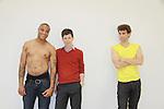 Christian Barber, Nick Lewis, xx, Josh Davis - Empire The Series films on set June 3, 2012  in Brooklyn, New York. (Photo by Sue Coflin/Max Photos)