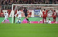 FUSSBALL  1. BUNDESLIGA  SAISON 2015/2016  24. SPIELTAG FC Bayern Muenchen - 1. FSV Mainz 05       02.03.2016 Jairo Samperio (li, 1. FSV Mainz 05) erzielt das Tor zum 0:1 und dreht jubelnd ab