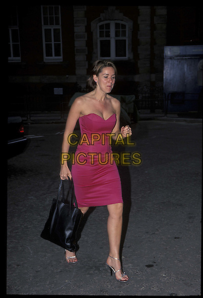 CLAIRE SWEENEY.25 May 2001.Ref: 10875.full length, full-length, pink, strapless.*RAW SCAN- photo will be adjusted for publication*.www.capitalpictures.com.sales@capitalpictures.com.©Capital Pictures
