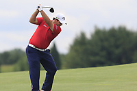 Patrick Reed (USA) plays his 2nd shot on the 1st hole during Saturday's Round 3 of the 117th U.S. Open Championship 2017 held at Erin Hills, Erin, Wisconsin, USA. 17th June 2017.<br /> Picture: Eoin Clarke | Golffile<br /> <br /> <br /> All photos usage must carry mandatory copyright credit (&copy; Golffile | Eoin Clarke)