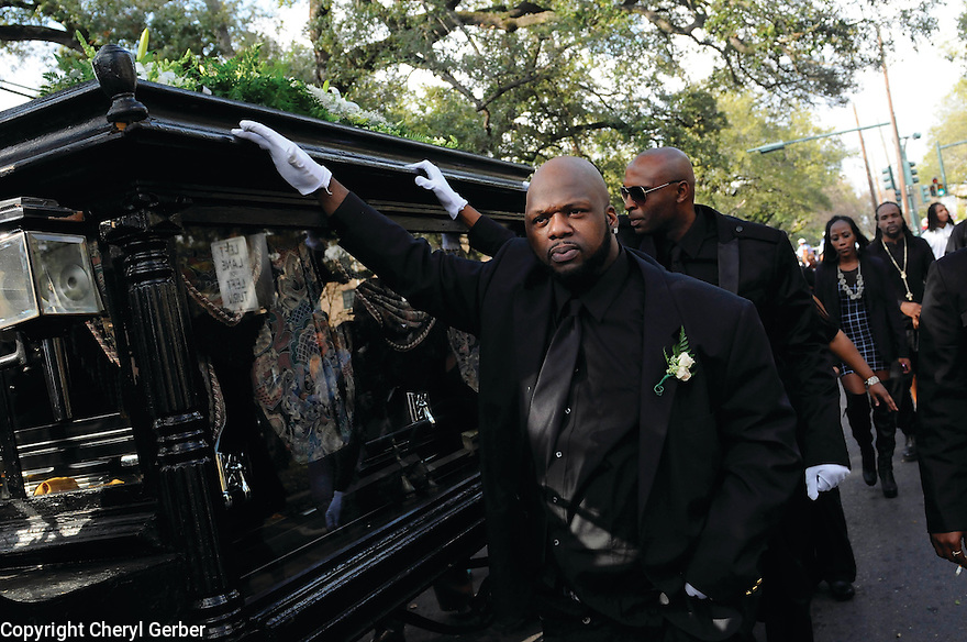 Funeral for slain rapper Magnolia Shorty, Central City, 2010