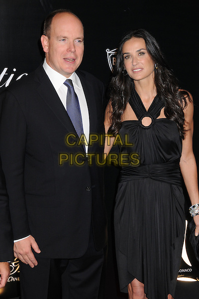 PRINCE ALBERT II OF MONACO & DEMI MOORE .Rodeo Drive Walk of Style Award 2009 held on Rodeo Drive, Beverly Hills, California, USA..October 22nd, 2009.half length black dress suit blue tie.CAP/ADM/BP.©Byron Purvis/AdMedia/Capital Pictures.