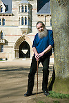 Alan Moore, graphic novelist and magician, at Christ Church during the Sunday Times Oxford Literary Festival, UK, 24 March - 1 April 2012.<br />