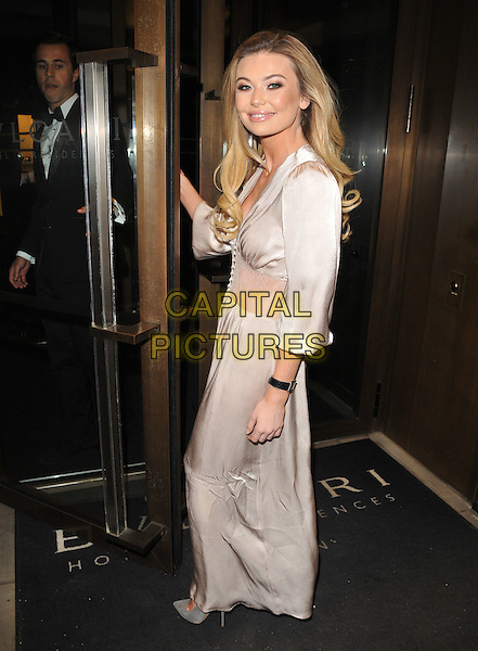Georgia Toffolo at the Glass Magazine 7th Anniversary Dinner, Bulgari Hotel, Knightsbridge, London, England, UK, on Wednesday 25 January 2017.<br /> CAP/CAN<br /> &copy;CAN/Capital Pictures