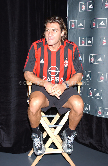 WWW.ACEPIXS.COM . . . . . ....NEW YORK, JULY 29, 2005 ....Christian Vieri at the ceremony to unveil the 2005-06 shirts for  A.C. MILAN at the Adidas Store in SOHO New York City.....Please byline: KRISTIN CALLAHAN - ACE PICTURES.. . . . . . ..Ace Pictures, Inc:  ..Craig Ashby (212) 243-8787..e-mail: picturedesk@acepixs.com..web: http://www.acepixs.com