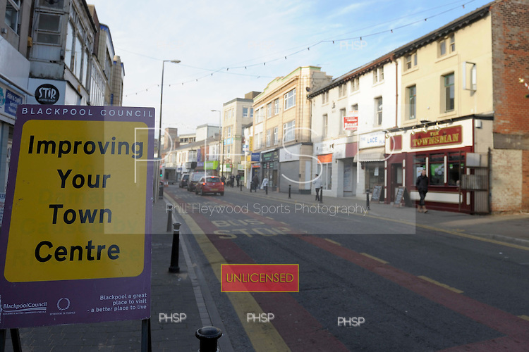 Road sign Topping Street Blackpool Lancashire UK......© Phill Heywood.