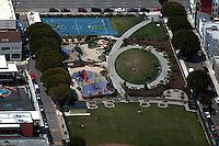 aerial photograph playground SOMA San Francisco, California