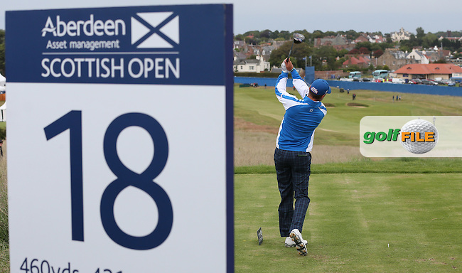 Playing to the last, Daniel Brooks (ENG) began and ends Round Three on top of the leaderboard of the 2015 Aberdeen Asset Management Scottish Open, played at Gullane Golf Club, Gullane, East Lothian, Scotland. /11/07/2015/. Picture: Golffile | David Lloyd<br /> <br /> All photos usage must carry mandatory copyright credit (&copy; Golffile | David Lloyd)
