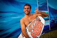 HONOLULU - (Thursday, November 15, 2012) Mason Ho (HAW). -- The REEF Hawaiian Pro at Haleiwa Ali'i Beach Park - the first jewel of the $1million Vans Triple Crown of Surfing was ready for an 8am start this morning but was put on hold till 12.30 pm because of small surf conditions.  As the surf increased during the afternoon the first 12 heats of the Round of 128 were completed with Mason Ho (HAW) scoring the 'wave of the day' on the last wave of the last heat. Ho scored a double barrel to easily win his heat.  Photo: joliphotos.com