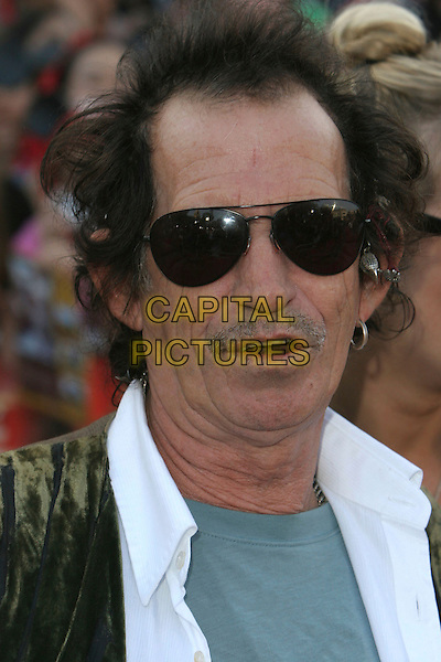 "KEITH RICHARDS.""Pirates Of The Caribbean: At World's End"" World Premiere held at Disneyland, Anaheim, California, USA,.19 May 2007..portrait headshot sunglasses.CAP/ADM/CH.©Charles Harris/AdMedia/Capital Pictures."