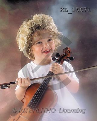 Interlitho, Alberto, CHILDREN, photos, girl, violin(KL15671,#K#) Kinder, niños