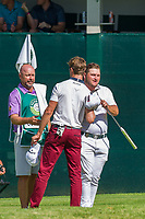 Zander Lombard (RSA) Thomas Detry (BEL) during the 3rd round at the Nedbank Golf Challenge hosted by Gary Player,  Gary Player country Club, Sun City, Rustenburg, South Africa. 16/11/2019 <br /> Picture: Golffile | Tyrone Winfield<br /> <br /> <br /> All photo usage must carry mandatory copyright credit (© Golffile | Tyrone Winfield)