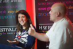 OIC - ENTSIMAGES.COM – Welsh-Italian cook Romina Chiappa (L) and master bread baker Alex Gooch talk at the fifteenth Hay Festival Winter Weekend which takes place in venues around Hay-on-Wye  on the 28th 29th & 30th November. This year the Festival is honoured with the attendance of Booker Prize-winners Graham Swift and Eleanor Catton, language experts David and Ben Crystal, Laura Bates, creator of the Everyday Sexism project, Danny Dorling on inequality & comedian Danny Ward. Hay-on-Wye, UK. 29th November, 2014. Photo: SnapDragon/Ents Images/OIC 0203 174 1069