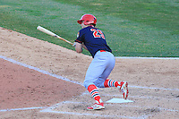 Peoria Chiefs outfielder Collin Radack (25) at bat during a game against the Wisconsin Timber Rattlers on April 12th, 2015 at Fox Cities Stadium in Appleton, Wisconsin.  Peoria defeated Wisconsin 11-1.  (Brad Krause/Four Seam Images)