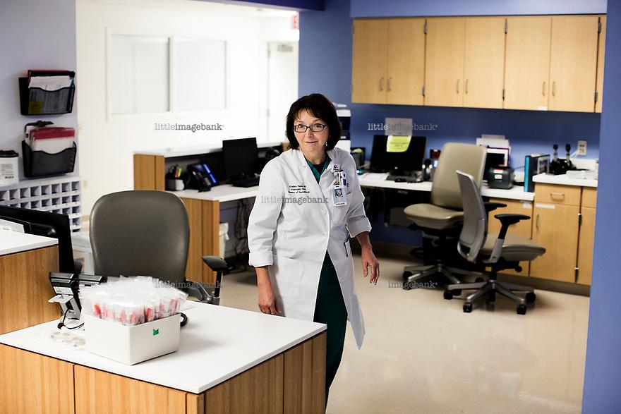 Ohio, Usa. Oktober 2016. Dr. Kristina Reber jobber på Natinwides barnesykehus i Columbus. Fotografier til dokument om valget i Usa og Appalachene. Foto: Christopher Olssøn