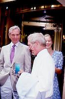 Paul Newman & A.E. Hotchner Attend<br /> Newman's Own Lemonade Tasting by<br /> Jonathan Green 1987