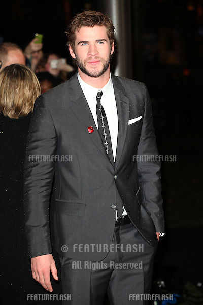 Liam Hemsworth arriving for The Hunger Games, Catching Fire World Premiere, London Leicester Square. 11/11/2013 Picture by: Alexandra Glen / Featureflash