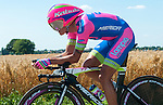 SITTARD, NETHERLANDS - AUGUST 16: Davide Vigano of Italy riding for Lampre-Merida competes during stage 5 of the Eneco Tour 2013, a 13km individual time trial from Sittard to Geleen, on August 16, 2013 in Sittard, Netherlands. (Photo by Dirk Markgraf/www.265-images.com)