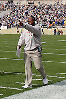 Louisville head coach Charlie Strong. The Pitt Panthers defeated the Louisville Cardinals 20-3 at Heinz Field, Pittsburgh Pennsylvania on October 30, 2010.