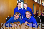 Dermot O'Mahony, Ryan O'Niell, Riosin Kissan and Caoimhe Barry, from Lisselton NS BallyBunion, at the Chapter 23 Credit Union Schools Quiz finals at Ballyroe Heights Hotel on Sunday