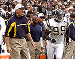 Chargers head coach Marty Schottenheimer on Sunday, September 28, 2003, in Oakland, California. The Raiders defeated the Chargers 34-31 in overtime.