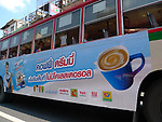 Bus passengers in Bangkok, Thailand