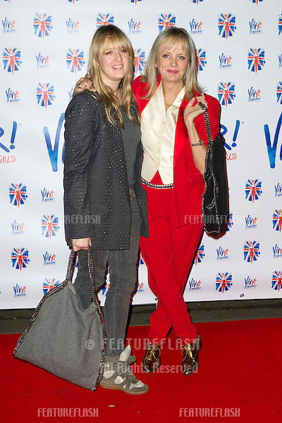 Twiggy and daughter at the Viva Forever Press Night, London. 11/12/2012 Picture by: Simon Burchell / Featureflash