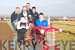 VINTAGE: Looking over one of the Vintage Tractors which was ploughing in the Ardfert Ploughing Championships on Sunday were Jamie Donegan (Causeway), JP Corridon (Ballyheigue), John McCarthy, Jeremiah Delaney, Christopher Barrett and Joseph McCarthy (Causeway)..