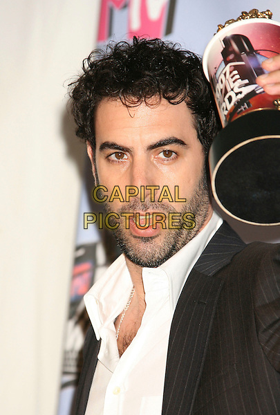SACHA BARON COHEN.Press Room - 2007 MTV Movie Awards,  Gibson Amphitheater, Universal City, California, USA,.03 June 2007..portrait headshot beard award trophy.CAP/ADM/RE.©Russ Elliot/AdMedia/Capital Pictures. *** Local Caption *** ...