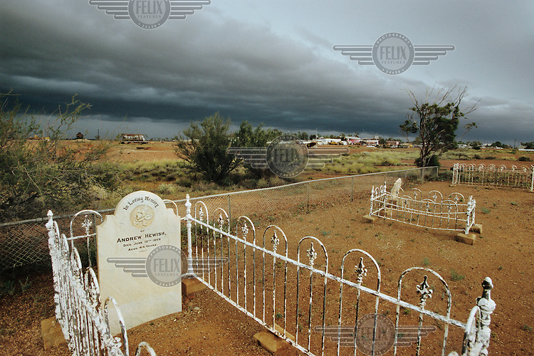 A graveyard with the graves of the first settlers to this remote village..