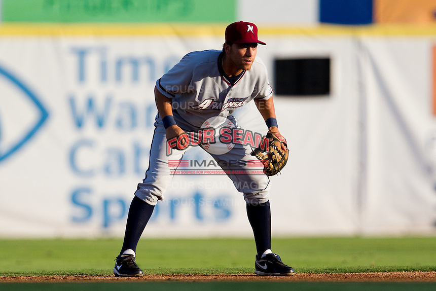 Anthony Seratelli (2) of the Northwest Arkansas Naturals on defense during a game against the South All-Stars 2011 in the Texas League All-Star game at Nelson Wolff Stadium on June 29, 2011 in San Antonio, Texas. (David Welker / Four Seam Images).