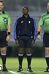 21 October 2016: Fourth Official Raymond Thomas. The Duke University Blue Devils hosted the University of Notre Dame Fighting Irish at Koskinen Stadium in Durham, North Carolina in a 2016 NCAA Division I Men's Soccer match. Duke won the game 2-1 in two overtimes.