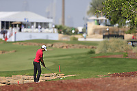 Joakim Lagergren (SWE) on the 18th during the 1st round of the DP World Tour Championship, Jumeirah Golf Estates, Dubai, United Arab Emirates. 15/11/2018<br /> Picture: Golffile | Fran Caffrey<br /> <br /> <br /> All photo usage must carry mandatory copyright credit (© Golffile | Fran Caffrey)