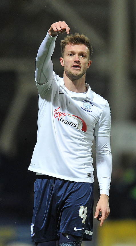 Preston North End's Scott Wiseman<br /> <br /> Photographer Dave Howarth/CameraSport<br /> <br /> Football - The Football League Sky Bet League One - Preston North End v Yeovil Town - Tuesday 20th January 2015 - Deepdale - Preston<br /> <br /> &copy; CameraSport - 43 Linden Ave. Countesthorpe. Leicester. England. LE8 5PG - Tel: +44 (0) 116 277 4147 - admin@camerasport.com - www.camerasport.com