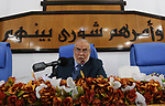 Deputy of the Legislative Council, Ahmed Bahar speaks during a meeting at the legislative council, in Gaza city on December 26, 2018. Photo by Ashraf Amra