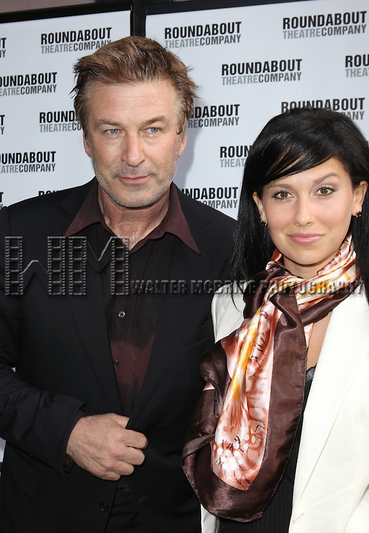 "Alec Baldwin and Hilaria Thomas.pictured at the Opening Night Arrivals for the Roundabout Theatre Company's Broadway Production of  ""Harvey"" at Studio 54 New York City June 14, 2012"
