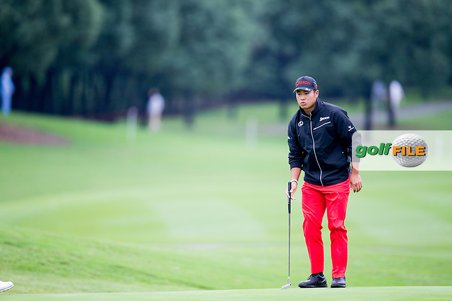 Hideki Matsuyama (JPN) on the 10th during round 1 of the WGC-HSBC Champions, Sheshan International GC, Shanghai, China PR.  27/10/2016<br /> Picture: Golffile | Fran Caffrey<br /> <br /> <br /> All photo usage must carry mandatory copyright credit (&copy; Golffile | Fran Caffrey)