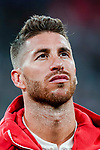 Sergio Ramos of Real Madrid reacts prior to the UEFA Champions League 2018-19 match between Real Madrid and Roma at Estadio Santiago Bernabeu on September 19 2018 in Madrid, Spain. Photo by Diego Souto / Power Sport Images