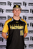 Christopher Broadbent (16) of Sky View High School in Richmond, Utah during the Baseball Factory All-America Pre-Season Tournament, powered by Under Armour, on January 12, 2018 at Sloan Park Complex in Mesa, Arizona.  (Mike Janes/Four Seam Images)