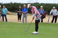 Pornanong Phatlum (THA) on the 1st green during Round 2 of the Ricoh Women's British Open at Royal Lytham &amp; St. Annes on Friday 3rd August 2018.<br /> Picture:  Thos Caffrey / Golffile<br /> <br /> All photo usage must carry mandatory copyright credit (&copy; Golffile | Thos Caffrey)