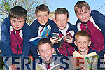 SUPPORTING: Celebrating their decade of success were the boys at Scoil Realta na Maidne, Listowel as the school received a special presentation this week from the MS Society for their decade of supporting the MS Readathon. Pictured are front l-r: Cian Dore and JoJo Grimes. Back l-r: Sean Burns, Sean Collins, Bill O'Flynn and James O'Sullivan.   Copyright Kerry's Eye 2008