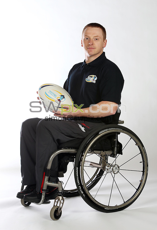 PICTURE BY VAUGHN RIDLEY/SWPIX.COM - Rugby League - World Cup 2013 - Festival of World Cups Launch - Leeds Civic Hall, Leeds, England - 12/02/13 - The RFL is hosting The Festival of World Cups this summer featuring separate competitions for Women, Wheelchair, Police, Student and Armed Forces. Wheelchair RL's Captain Andy Wharton.