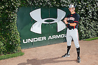 Shortstop Gavin Cecchini #2 of Barbe High School in Lake Charles, Louisiana poses for a photo before the Under Armour All-American Game at Wrigley Field on August 13, 2011 in Chicago, Illinois.  (Mike Janes/Four Seam Images)