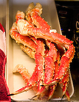 Fresh crab legs at the Salt Rock Grill located on The Narrows of the Gulf Intercoastal Waterway.  Indian Shores Tampa Bay Area Florida USA