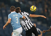 in action during the Italian Serie A soccer match between   SS Lazio and FC Juventus   at Olimpico  stadium in Rome , November 22, 2014