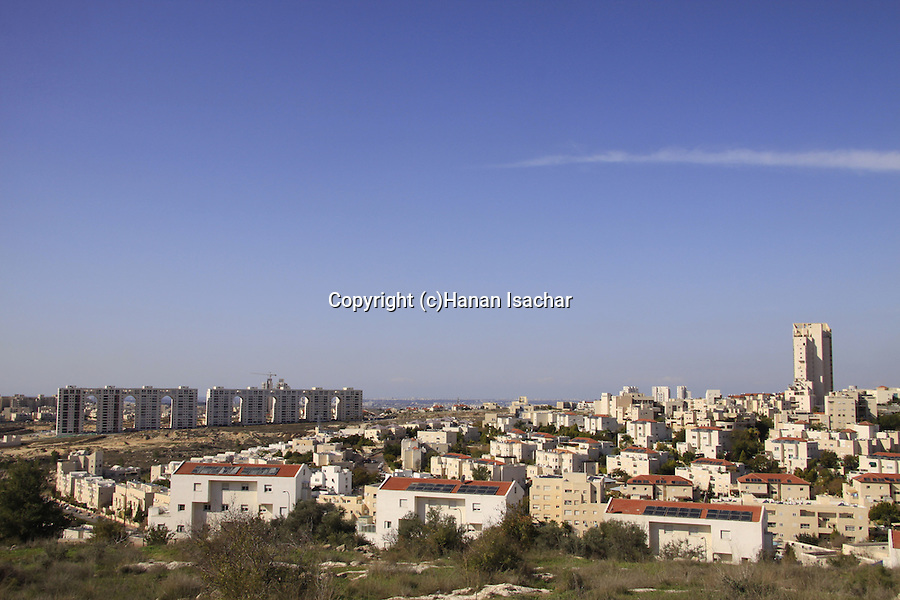 Israel, Shephelah, a view of Modiin from Titura Hill